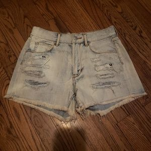Articles of Society Distressed Denim Frayed Shorts